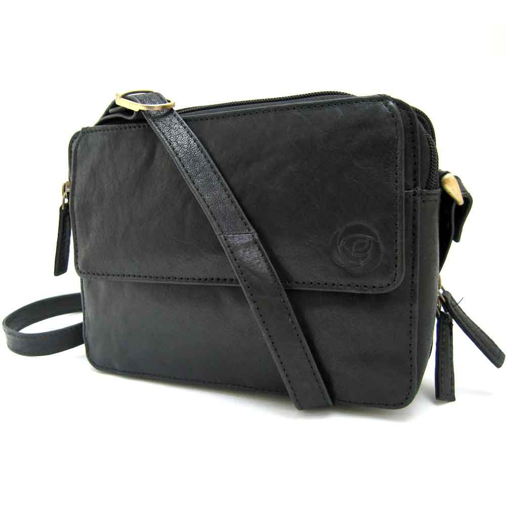 black-organiser leather bag