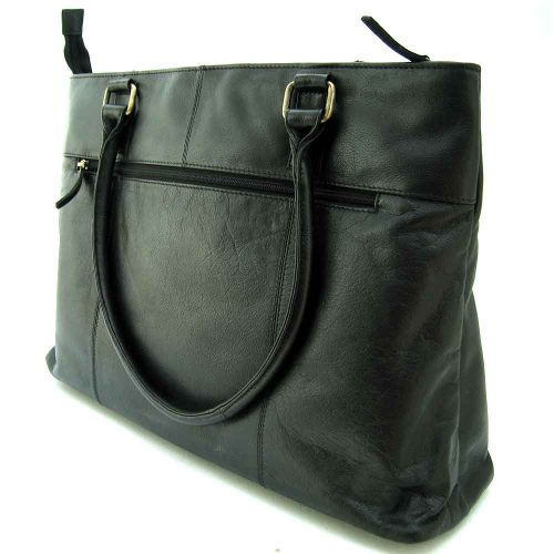black-leather shoulder bag