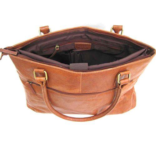 tan-leather shoulder bag