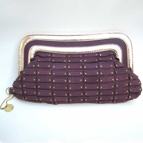 aubergine-gold-leather-clutch
