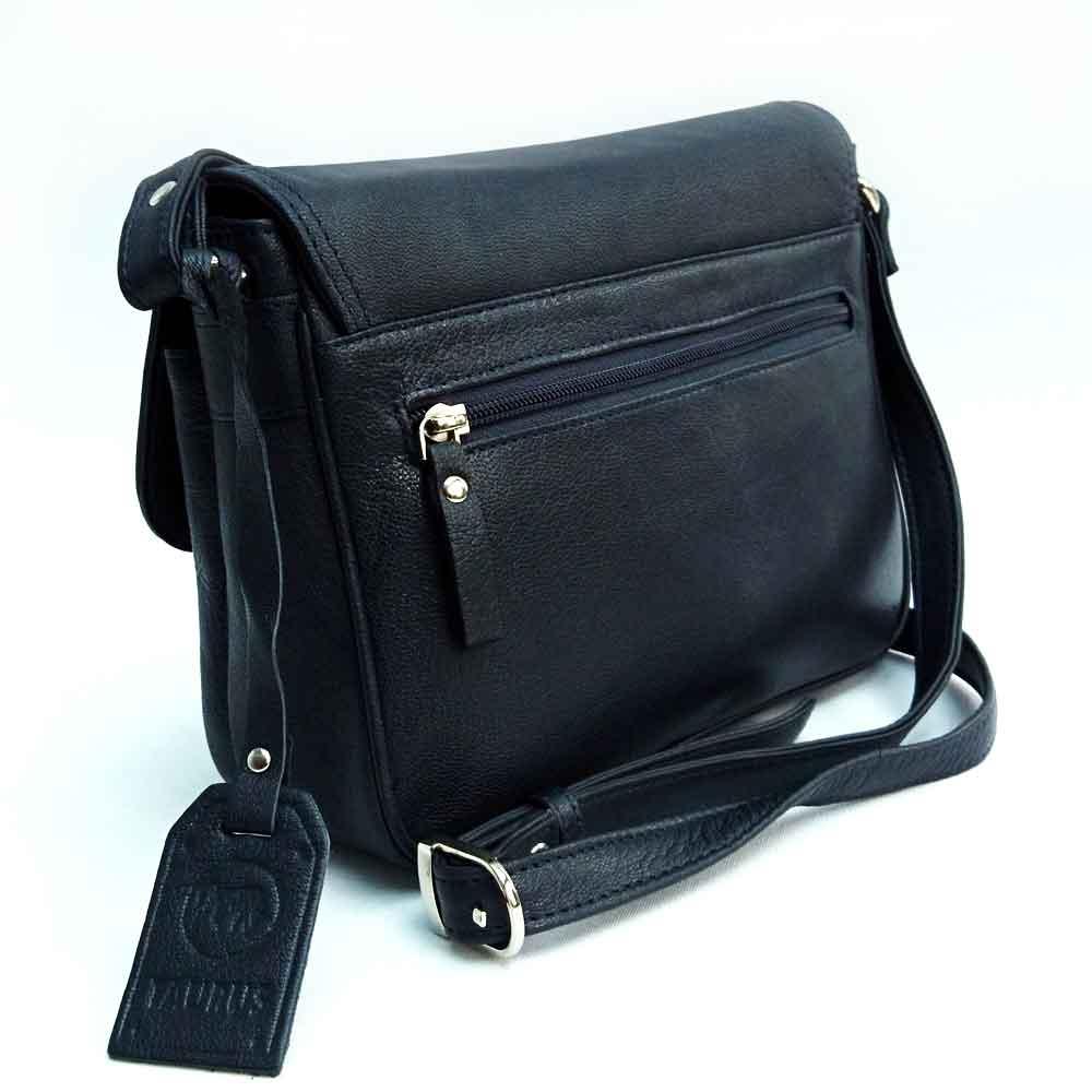 navy leather organiser bag