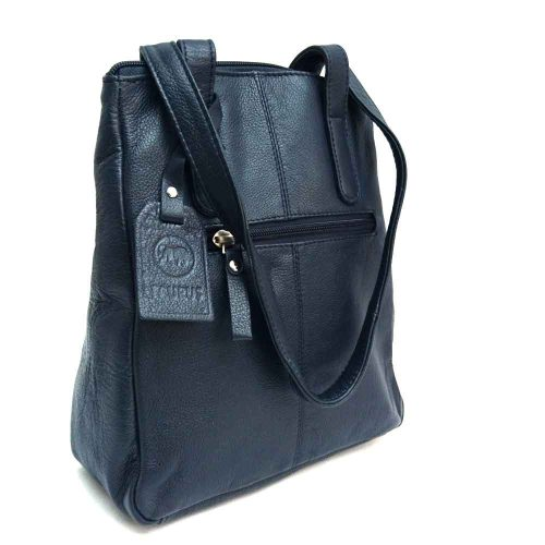 long-handled-navy-leather-bag