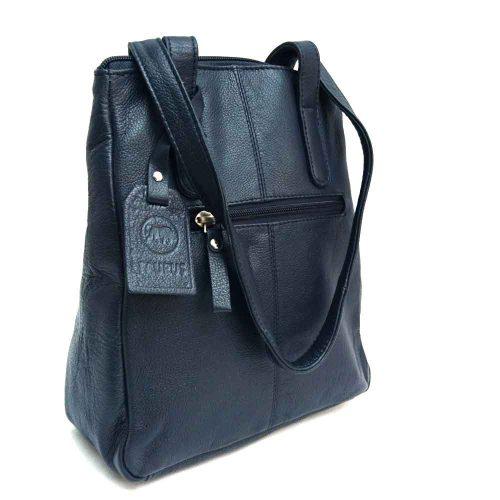 long-handled-navy-leather-bag