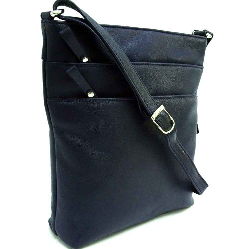 navy leather binocular bag
