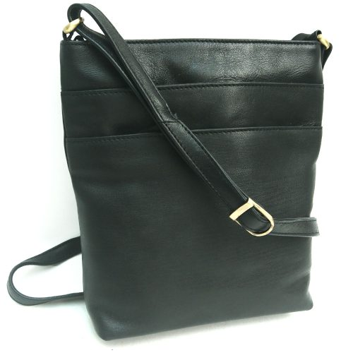 triple-zip-leather-bag-black