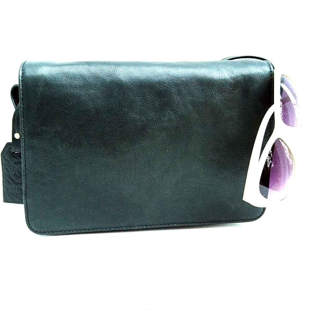 black-leathe-flapover-saddle-bag
