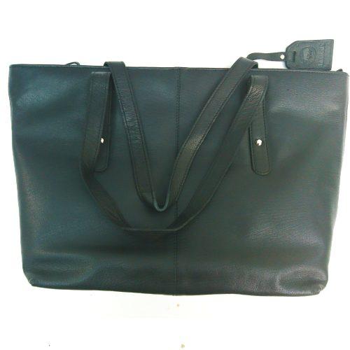 Studded-city-leather-bag-black