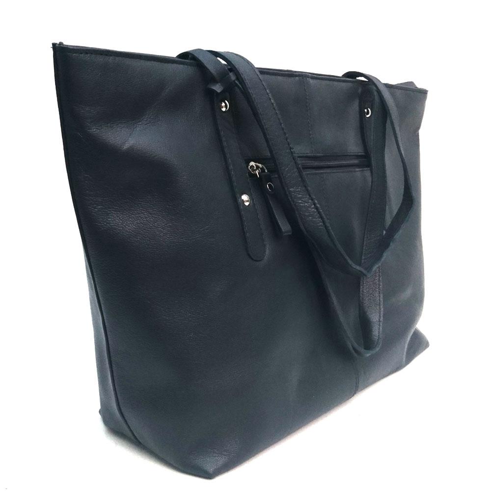 Studded-city-leather-bag-navy