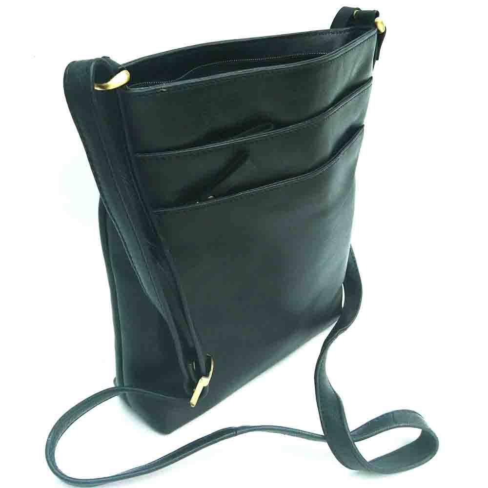 black-leather-tall-triple-zip-bag