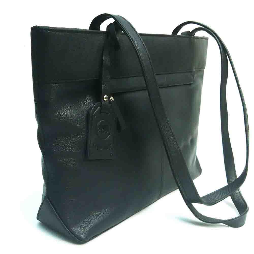 black-leather-twin-handle