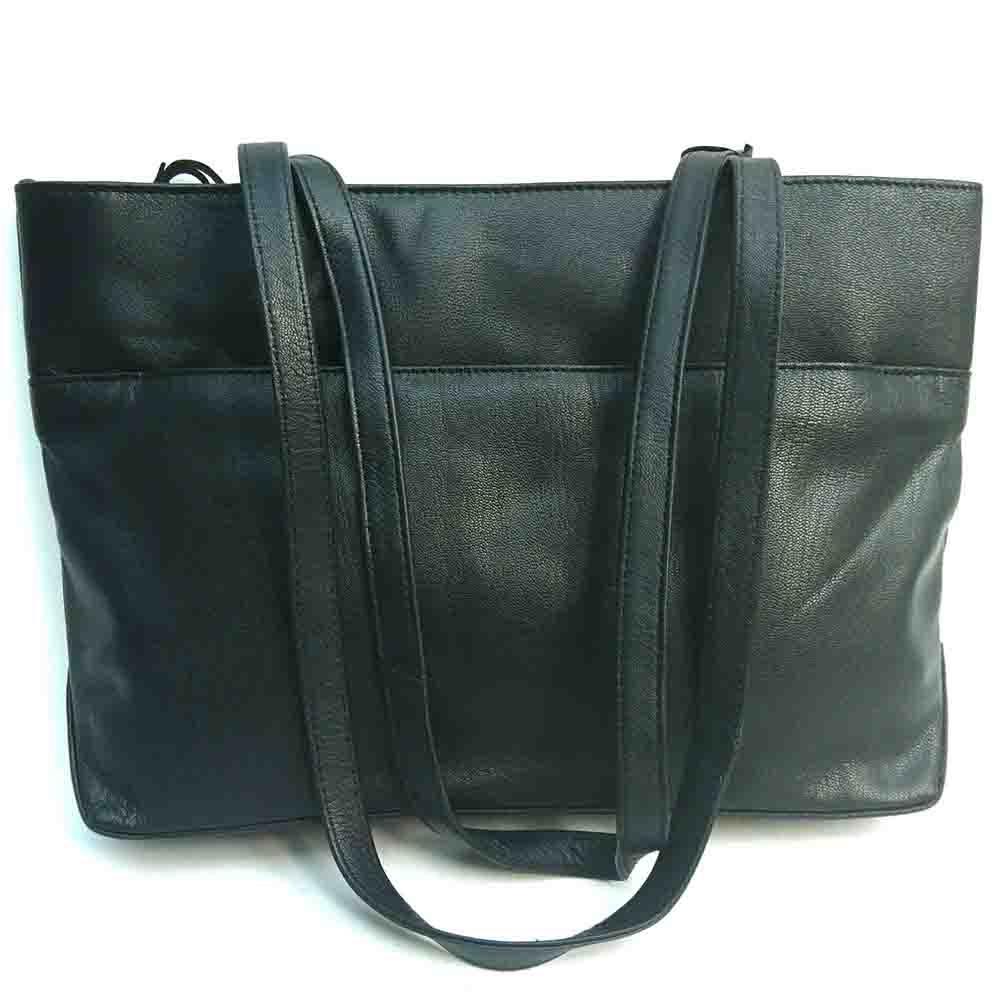 black-leather-twin-handle