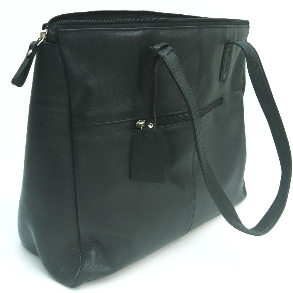 double-front-pocket-leather-bag-black-2