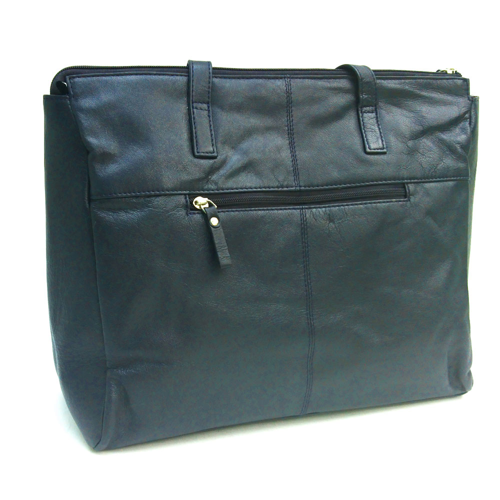 double-front-pocket-leather-bag-navy
