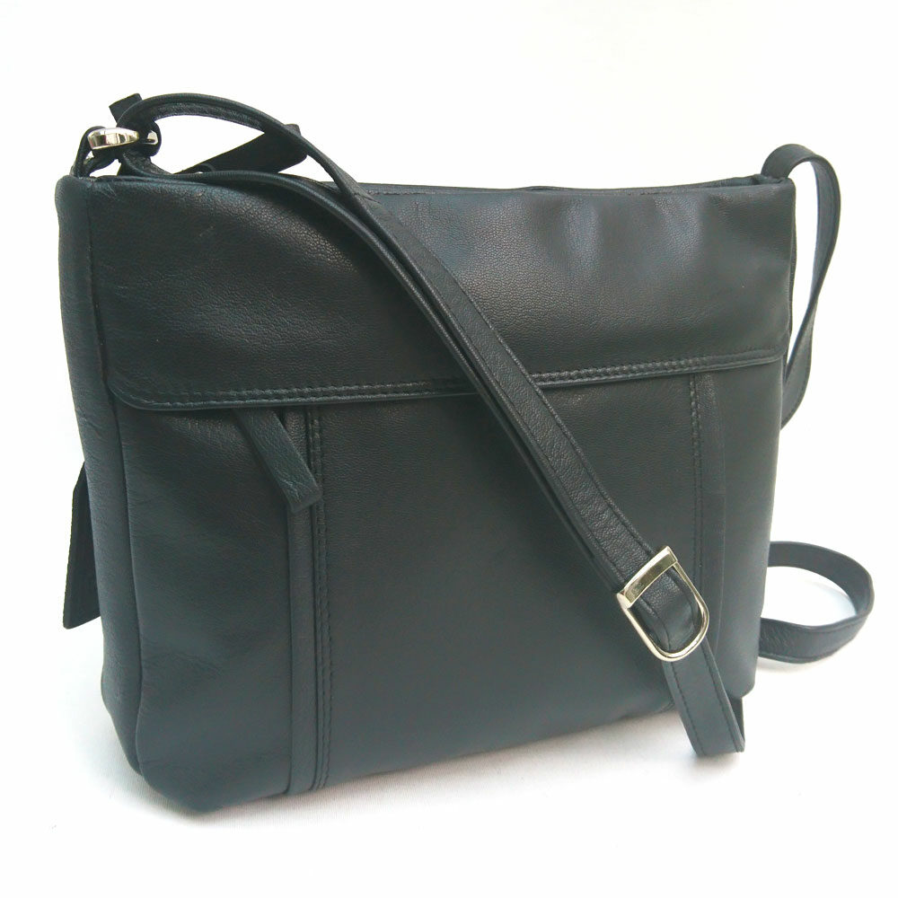 double-stitch-edged-leather-bag-black