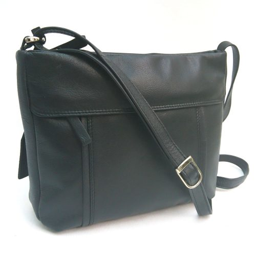 double-stitch-edged-leather-bag-black