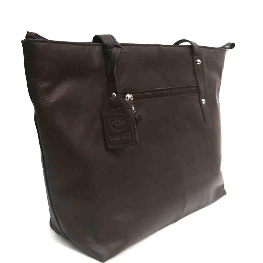 large-brown-leather-studded-bag