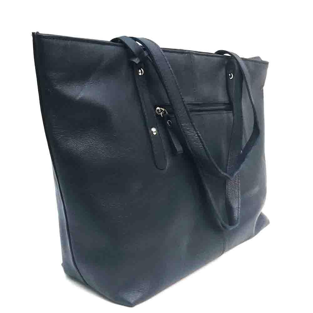 large-navy-leather-studded-bag