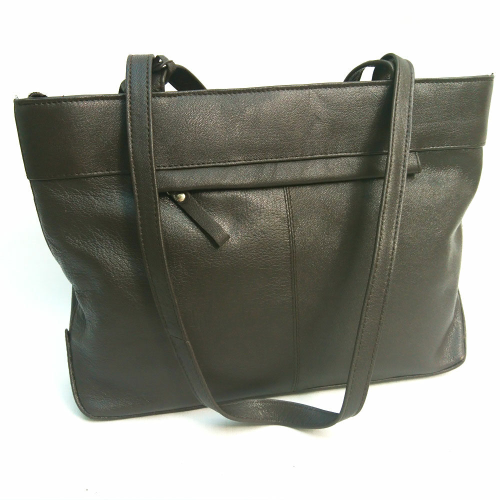 twin-handle-leather-business-bag-brown
