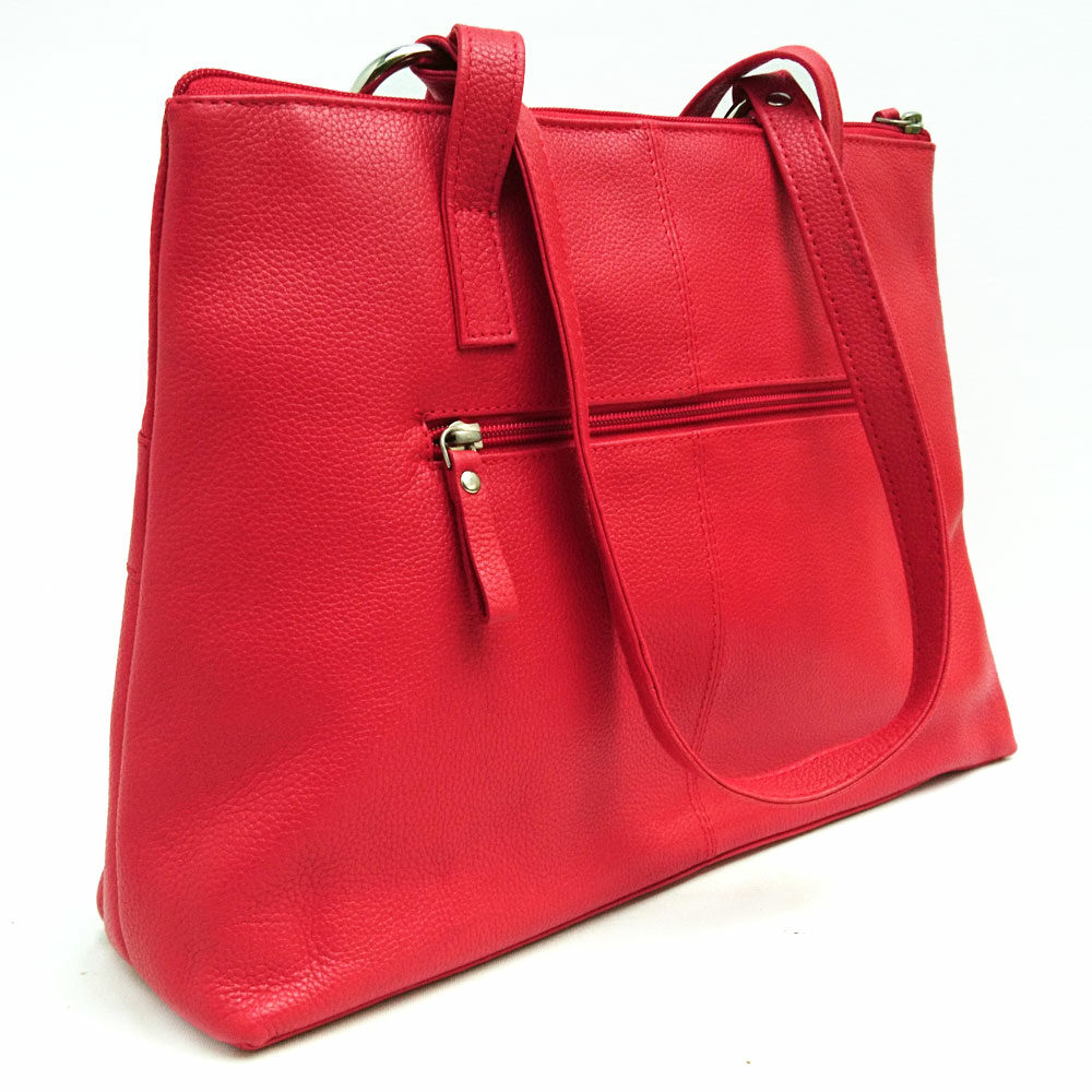 Twin-handle-leather-city-bag-coral