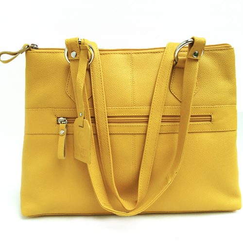 Twin-handle-leather-city-bag-mustard