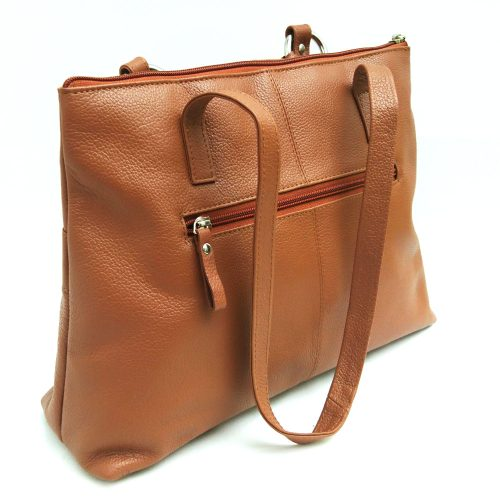Twin-handle-leather-city-bag-tan