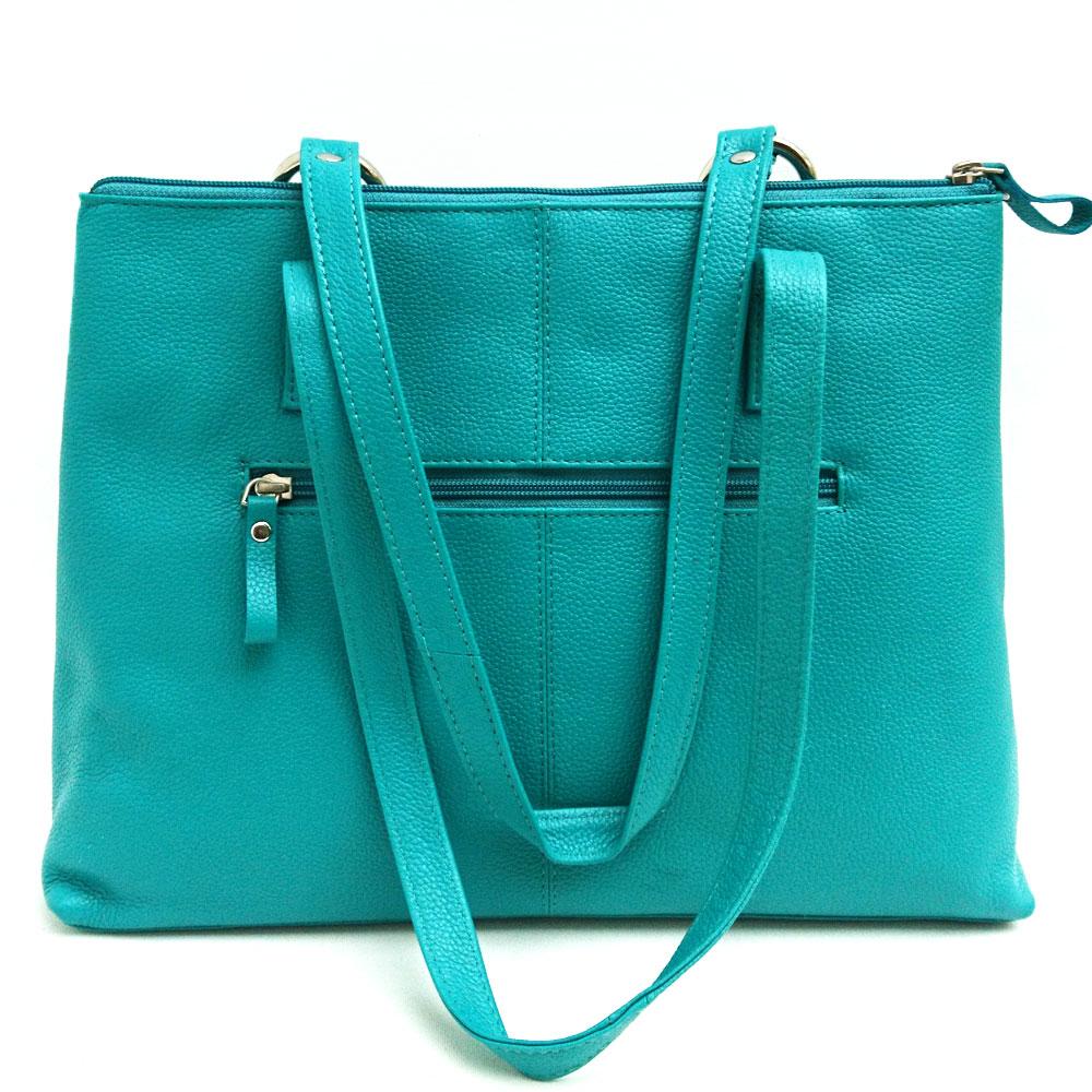 Twin-handle-leather-city-bag-turquoise